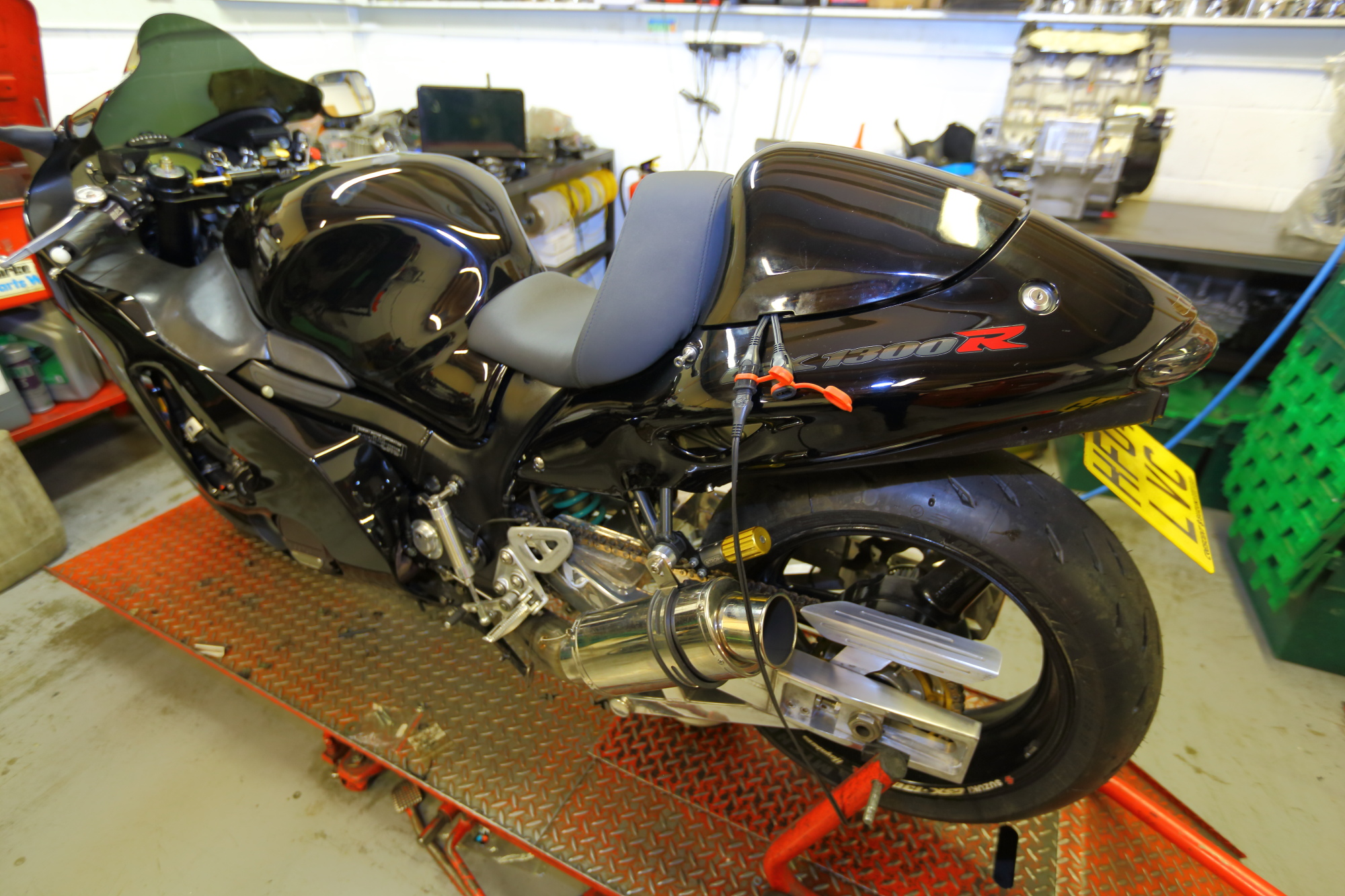 1000bhp Big CC road legal Hayabusa on the bench