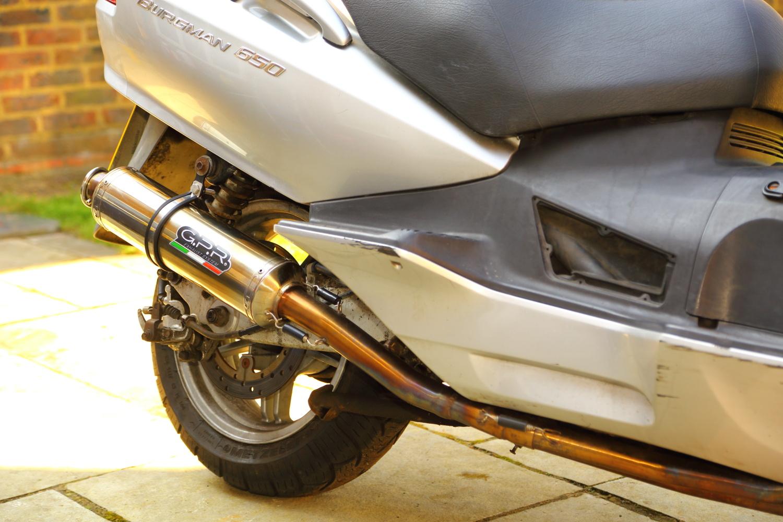 BUrgman 650GPR exhaust