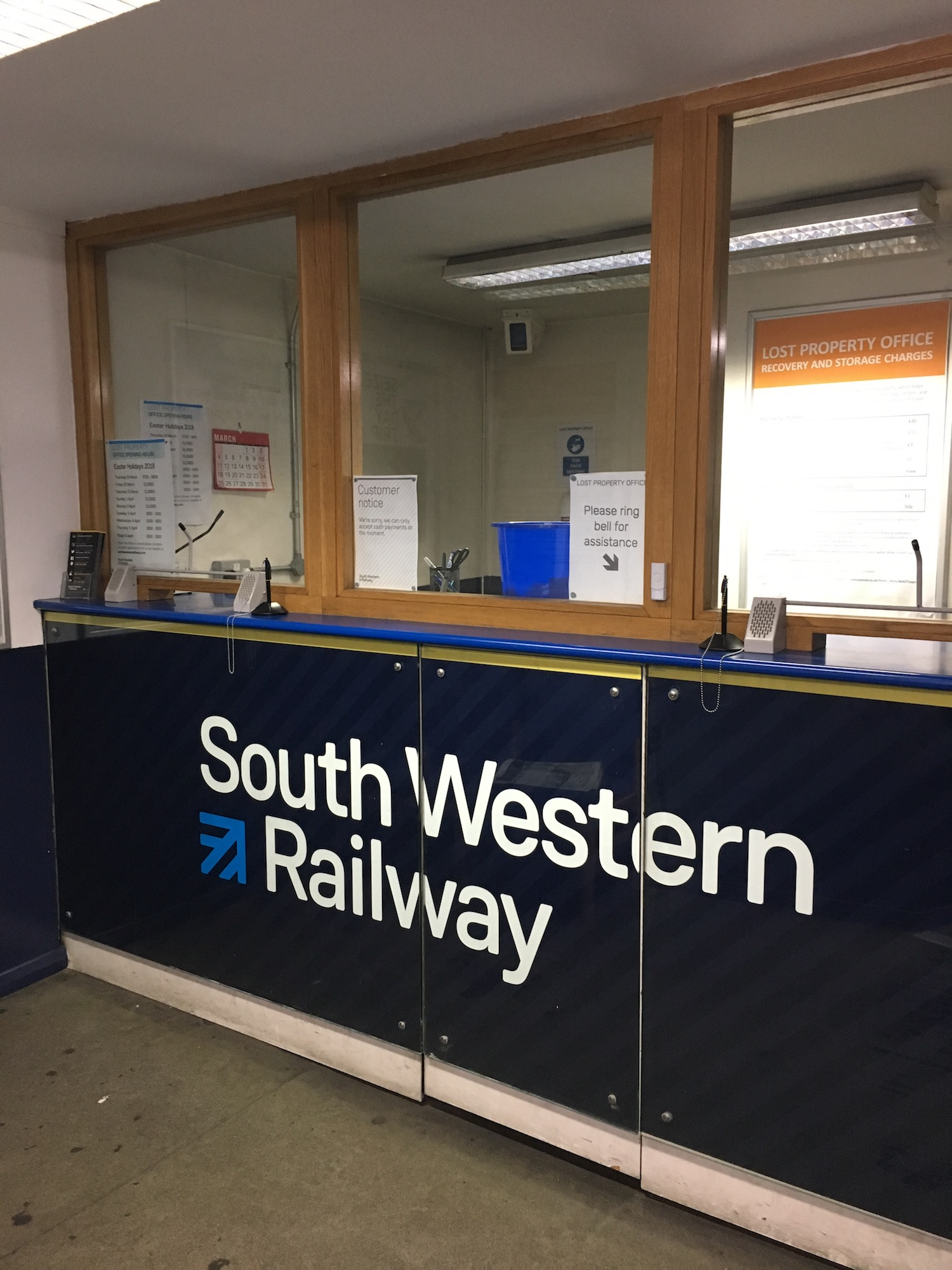 SW Trains Lost Property Office
