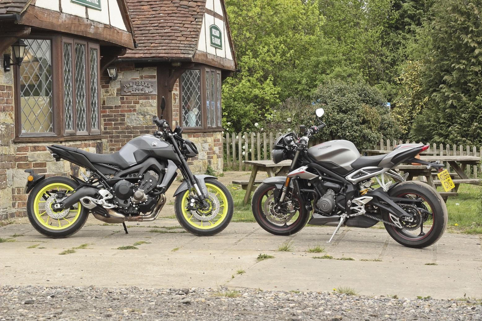 Triumph Street Triple 765 RS and Yamaha MT-09