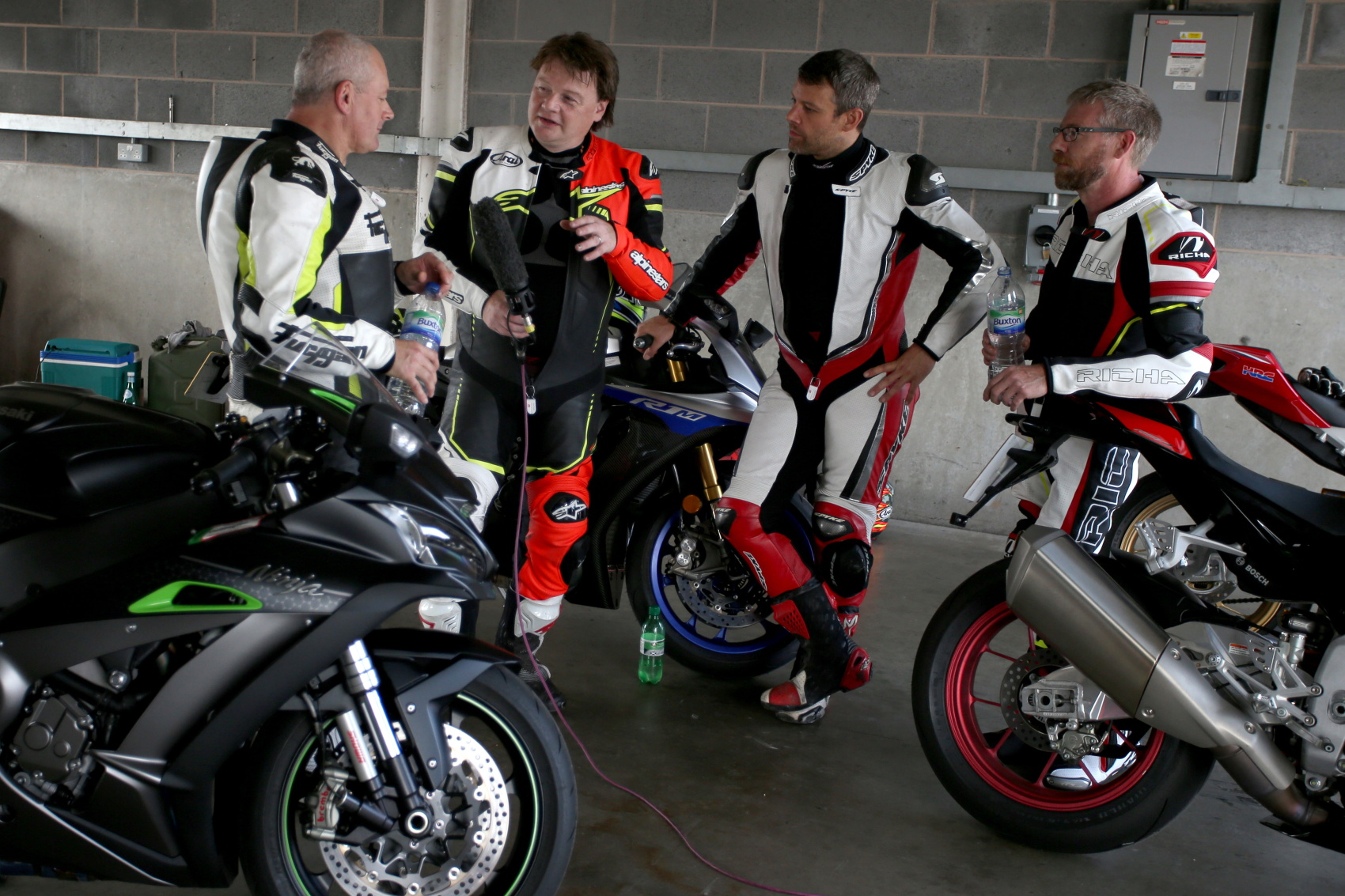 In the pit garage Donington
