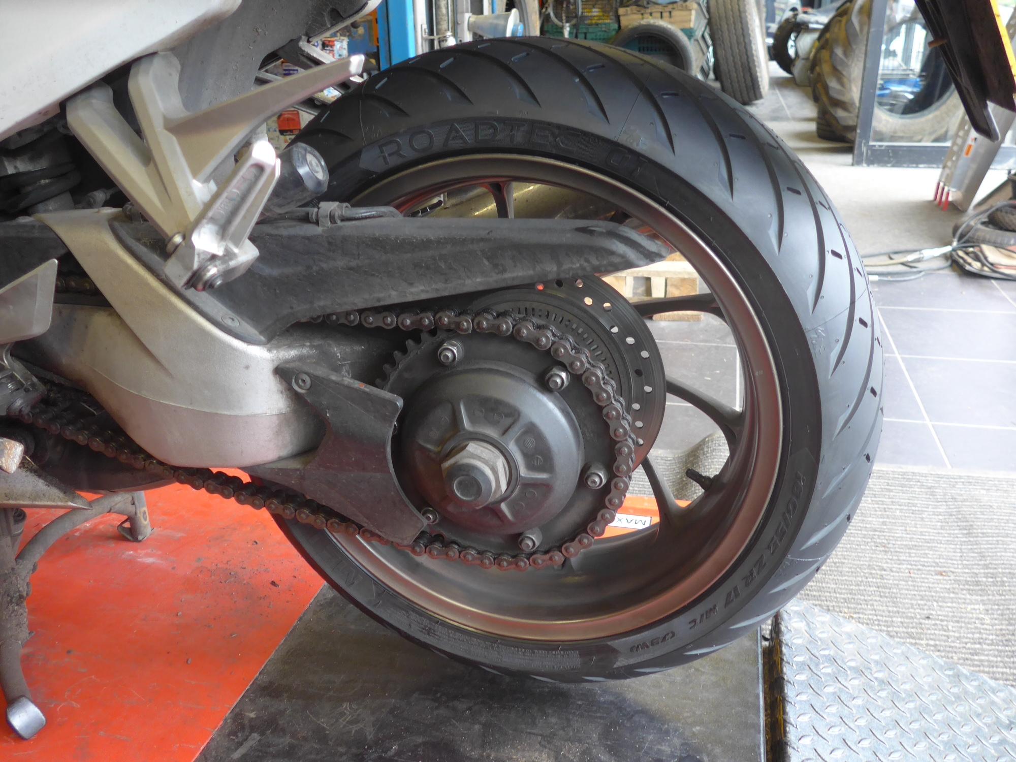 Martin's VFR at Tadworth Tyres