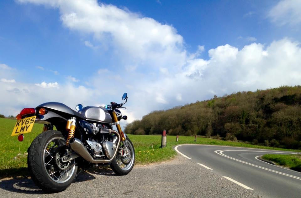 UK motorcycle registration plate