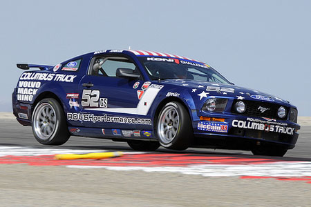 Spies tests Mustang race car