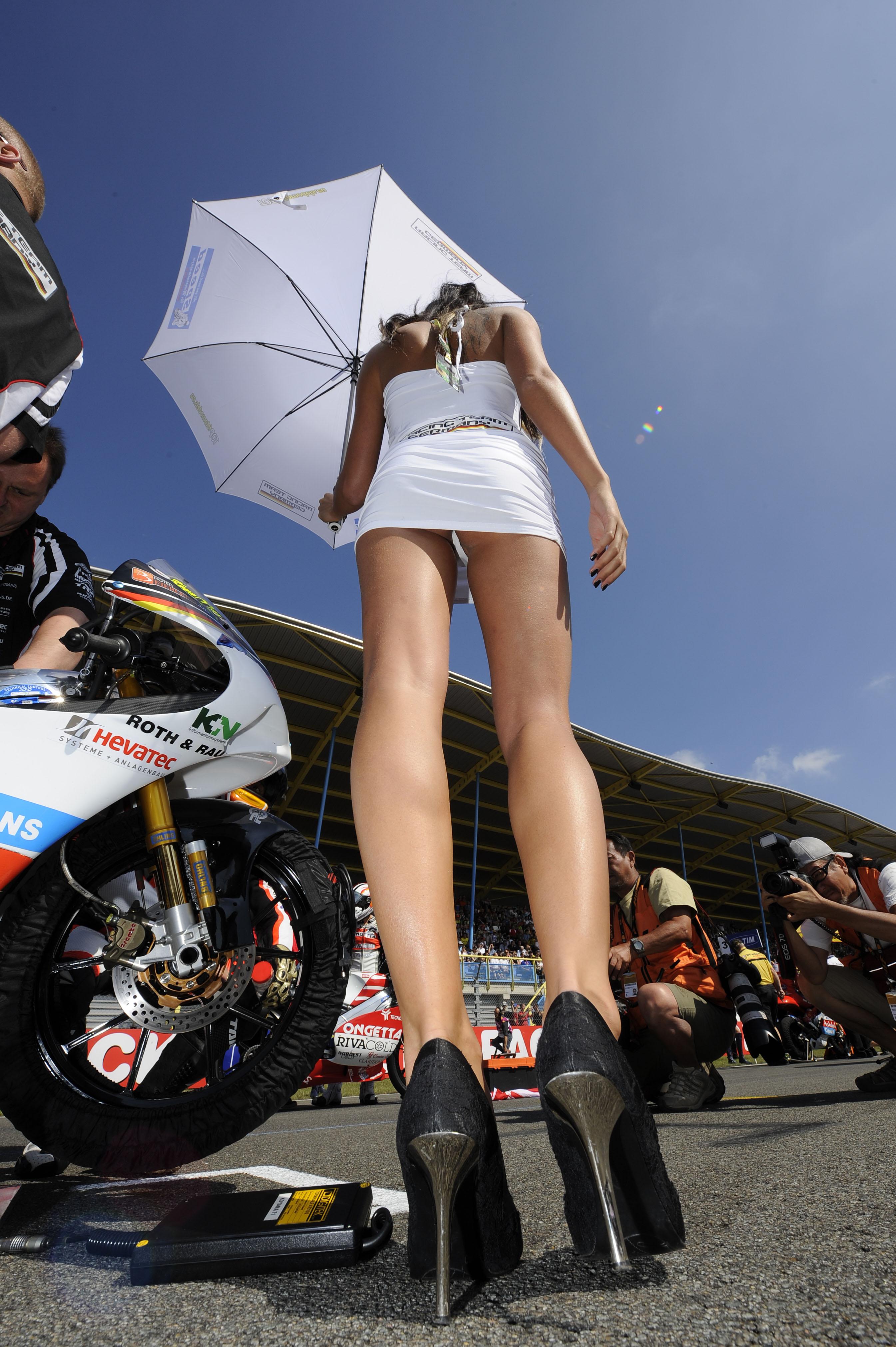 Motor racing girls tight thong leggings - 2 7