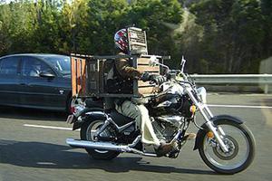 Oz Police catch up with BBQ biker