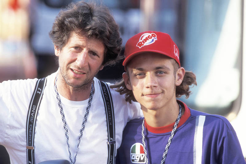 Photo of Valentino Rossi & his  Father  Graziano Rossi