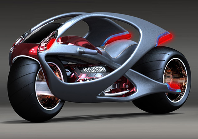 Muscle-inspired Hyundai bike concept | Visordown