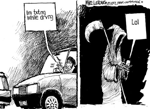 Texting while driving doubles reaction time