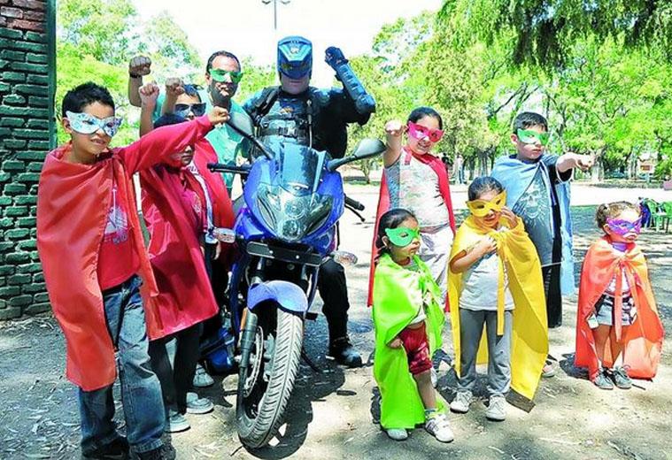 Bike-riding 'superhero' unmasked