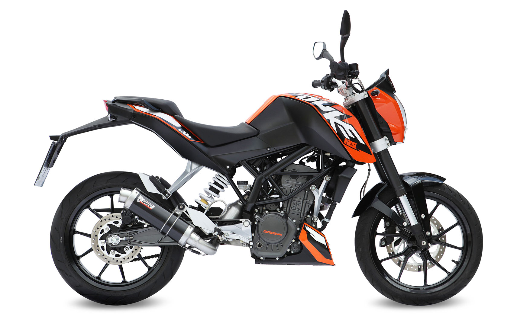 new mivv exhausts for ktm duke 125 and 200 visordown. Black Bedroom Furniture Sets. Home Design Ideas