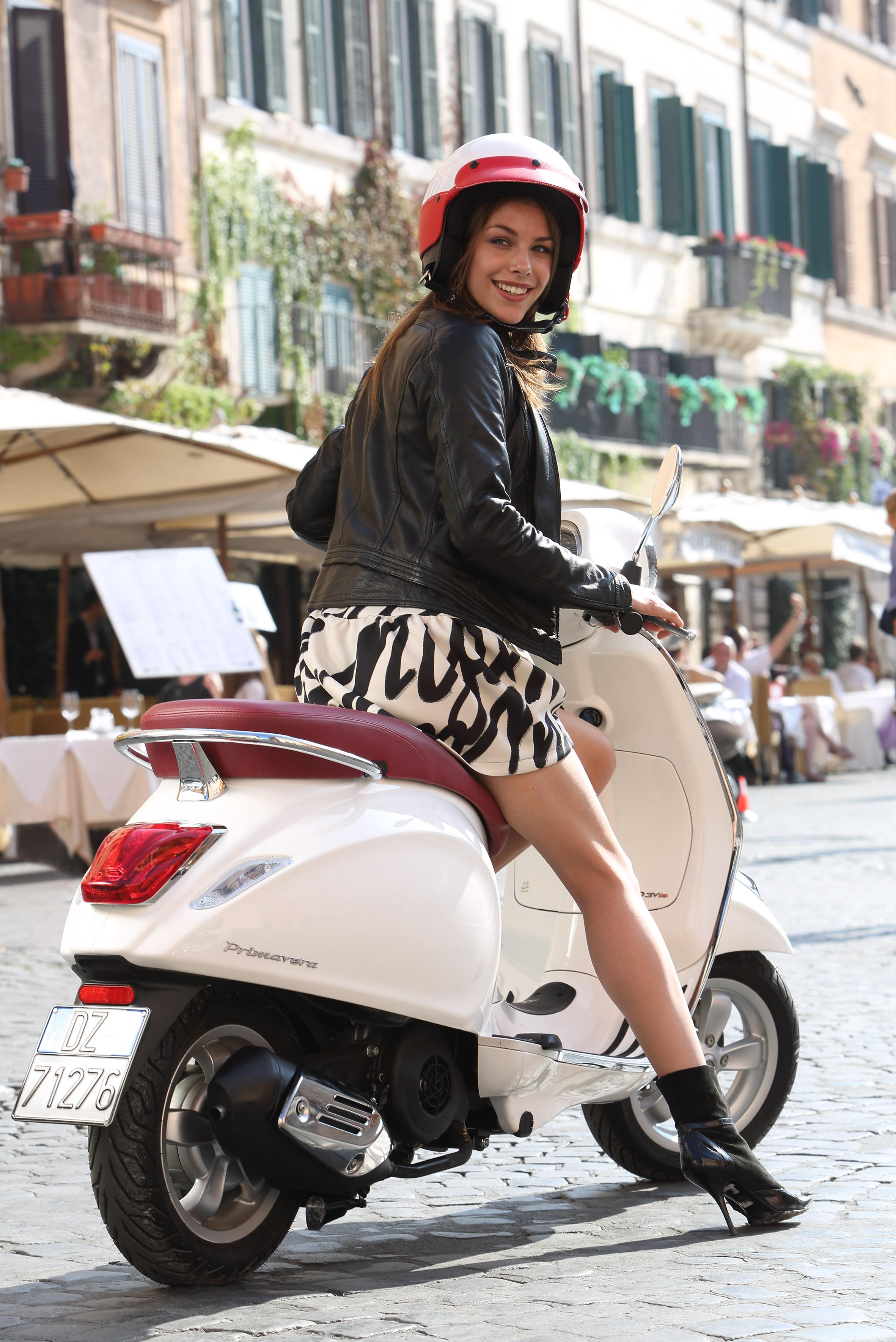 Hot girl on a Vespa