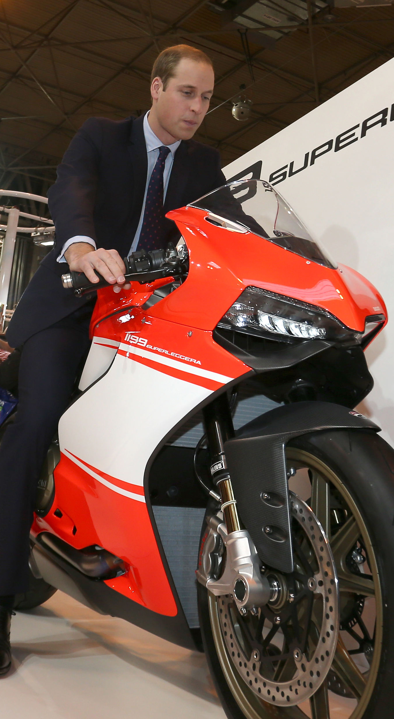 Prince William visits Motorcycle Live
