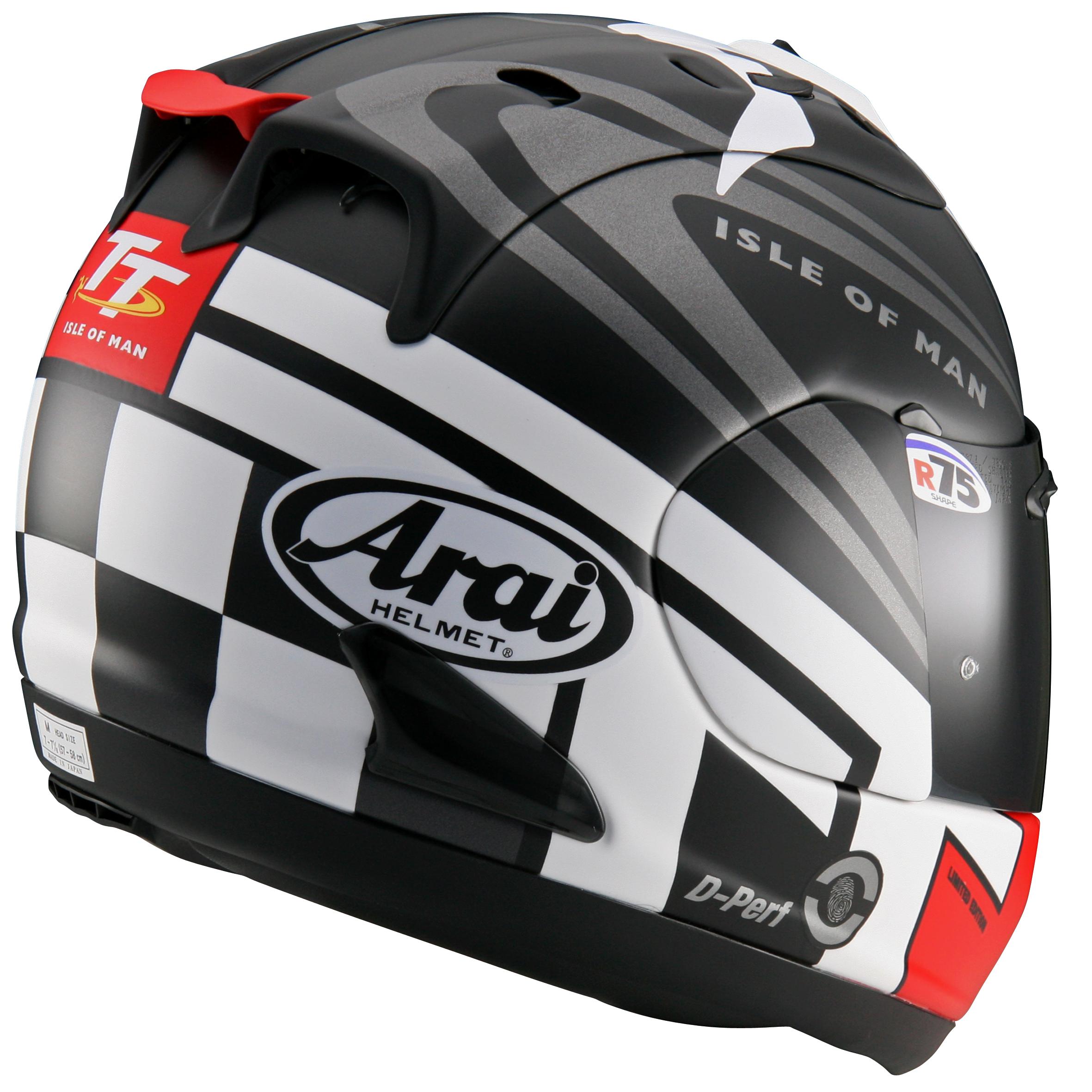 Arai reveals 2014 RX-7 GP IOM TT helmet