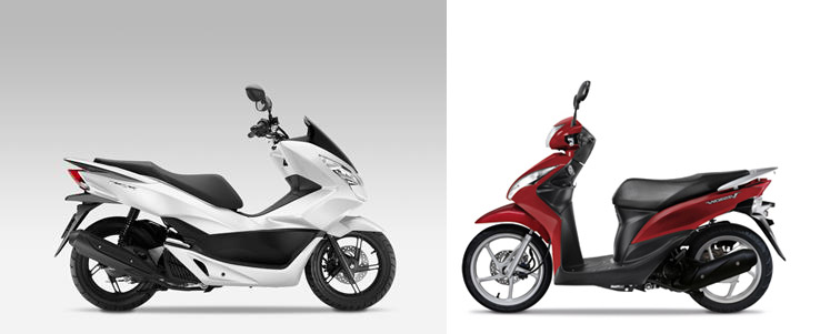 Versus: Honda Vision 110 vs Honda PCX125