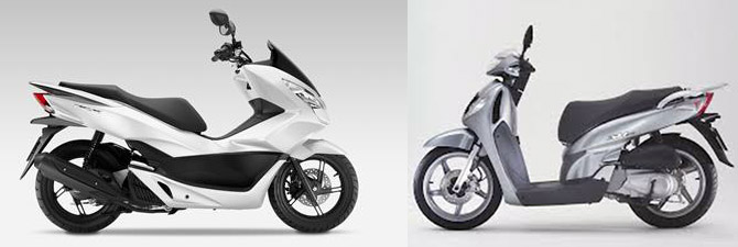 Versus: Honda PCX 125 vs Honda SH125