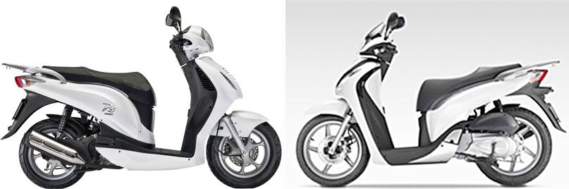 Versus: Honda PS125i vs Honda SH125