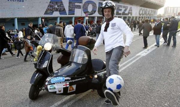 England fan to make 15,000 mile Vespa sidecar journey to Rio for World Cup in aid of UNICEF charity