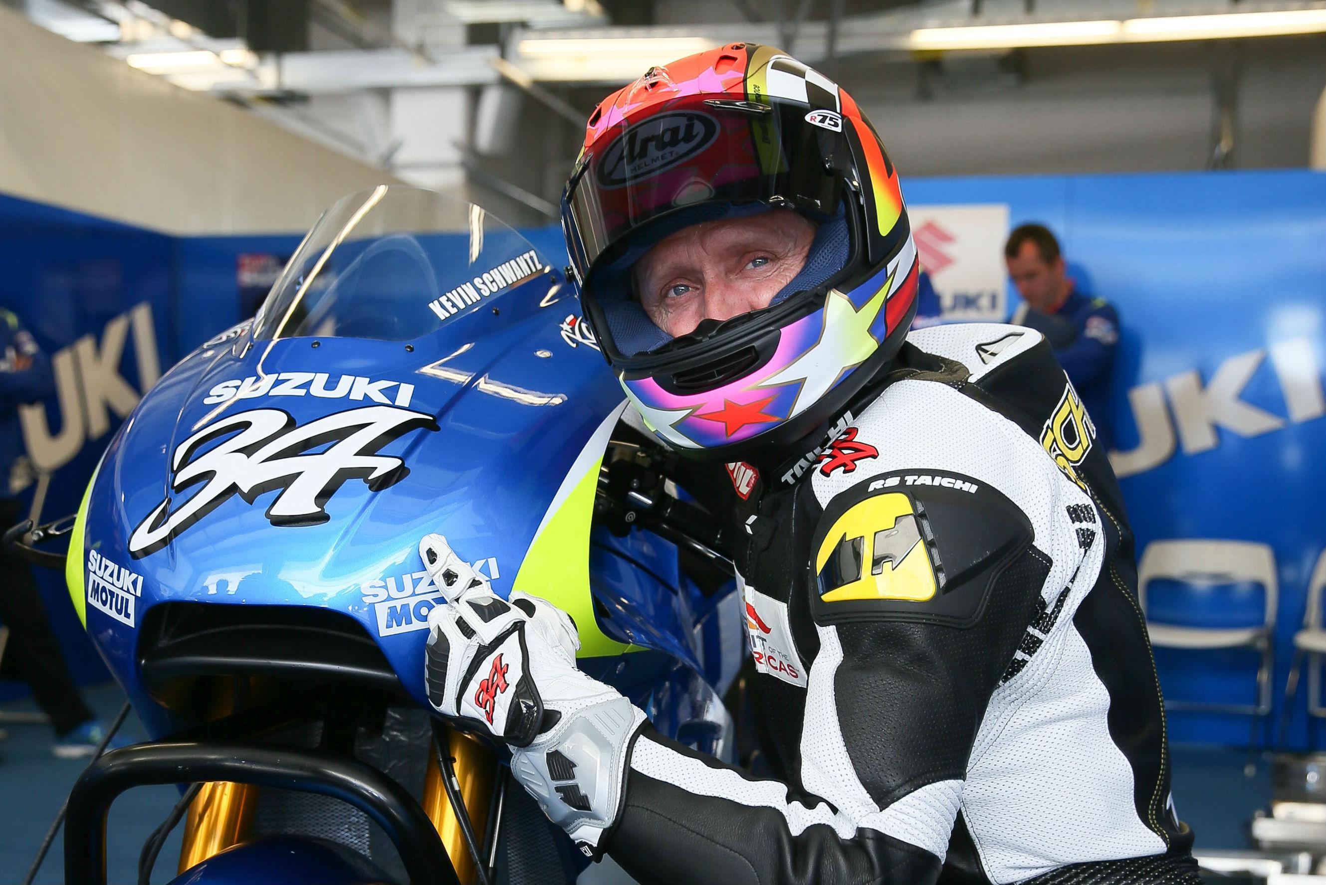 Kevin Schwantz tests Suzuki's MotoGP bike | Visordown