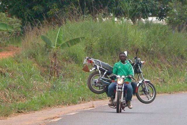 Caption that: The new 'motorcycle recovery service' proved a bit misleading