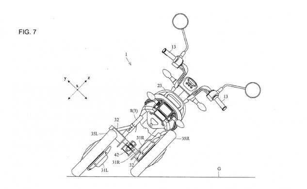 Yamaha files patents for leaning electric trike