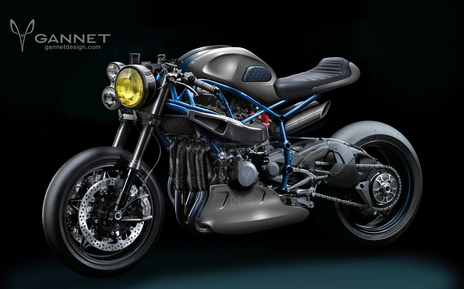 Kawasaki Ninja H2 café racer concept