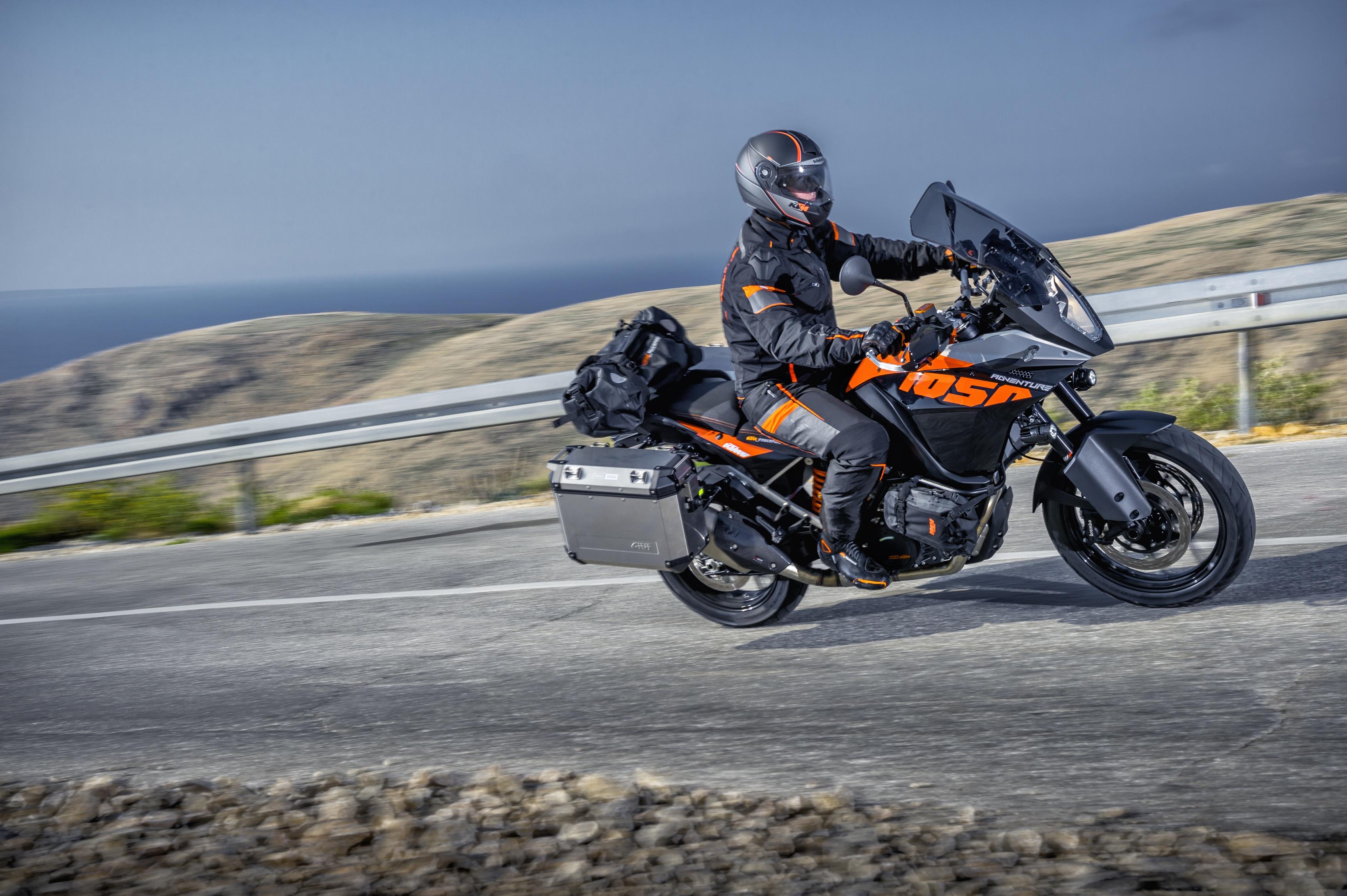 KTM 1050 Adventure shown at Eicma
