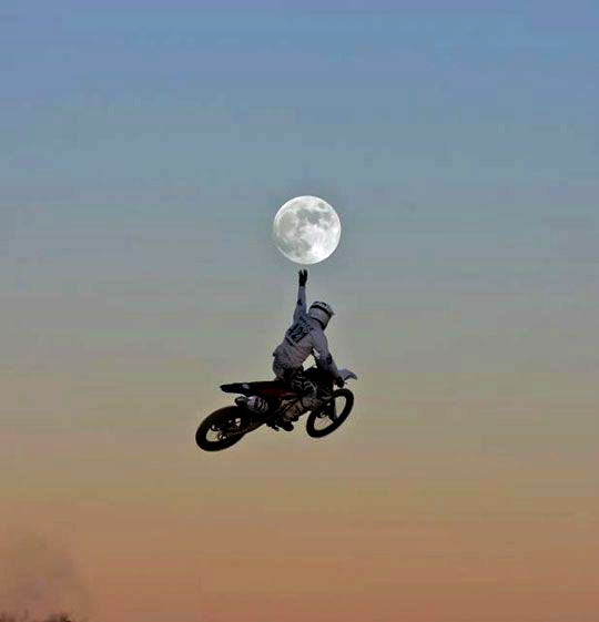 Caption that: Reach for the moon