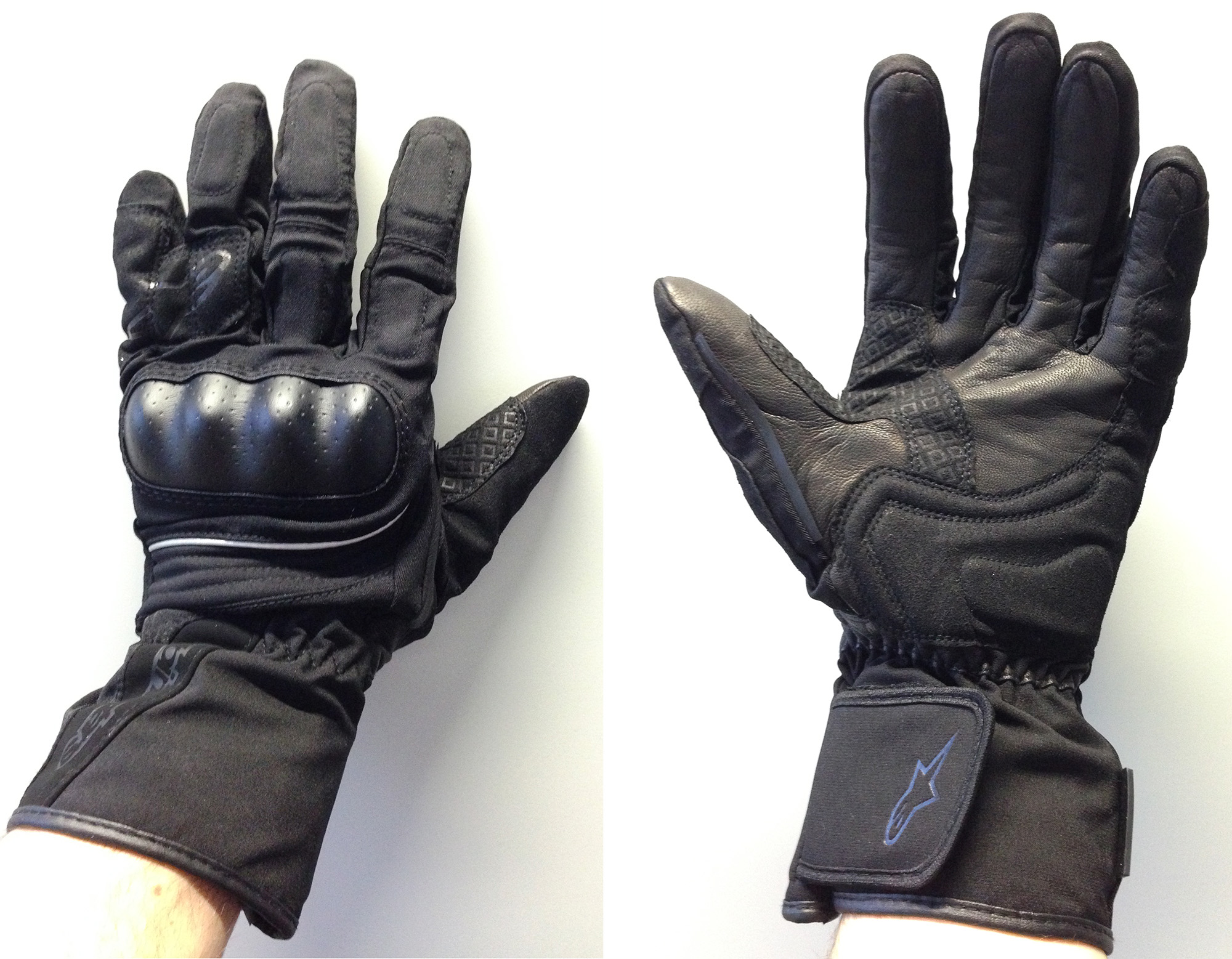 Xtrafit motorcycle gloves - The Equinox Gloves Are Predominantly Textile With Some Leather Stitched In Over The Fingers And Knuckle Armour They Weigh Only 91g And Have A Gore Tex