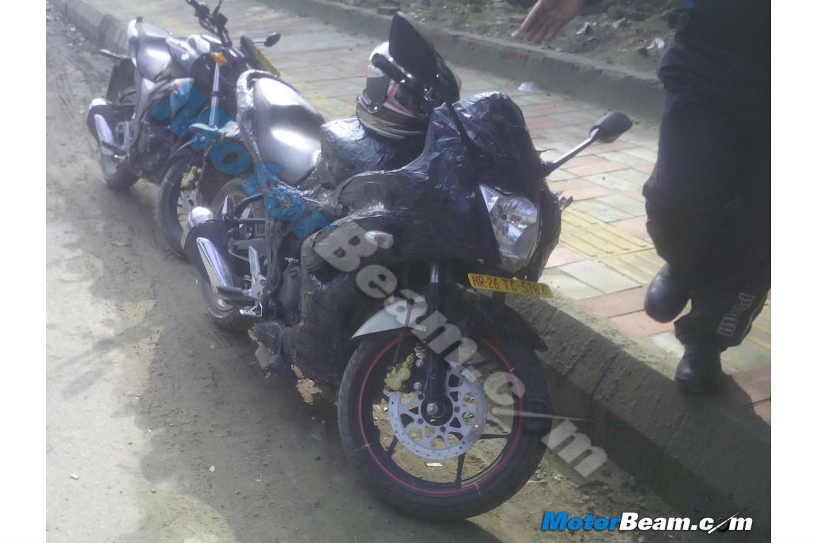 Suzuki's small sports bike spotted