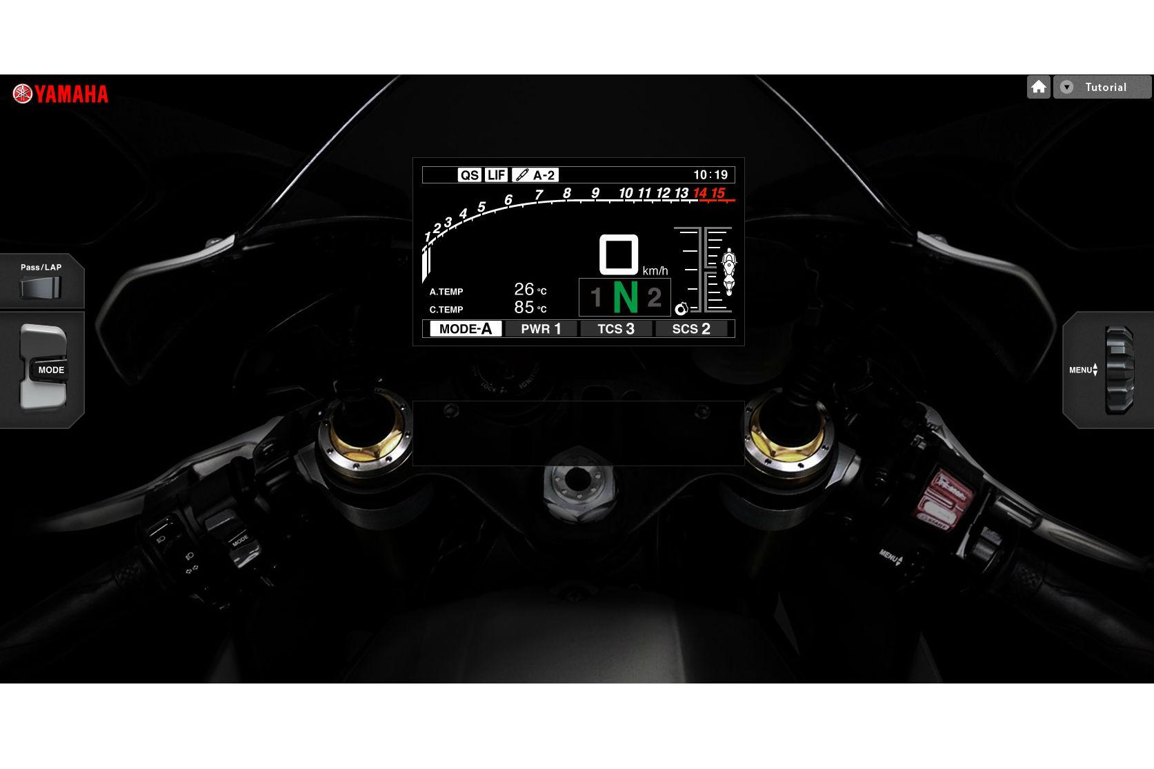 Yamaha's R1 dash simulation