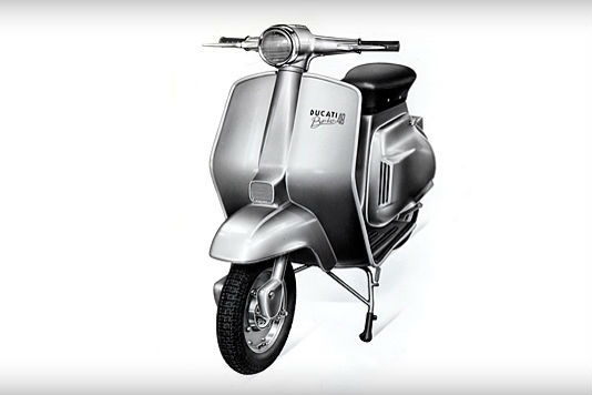 A Ducati badge on a scooter?