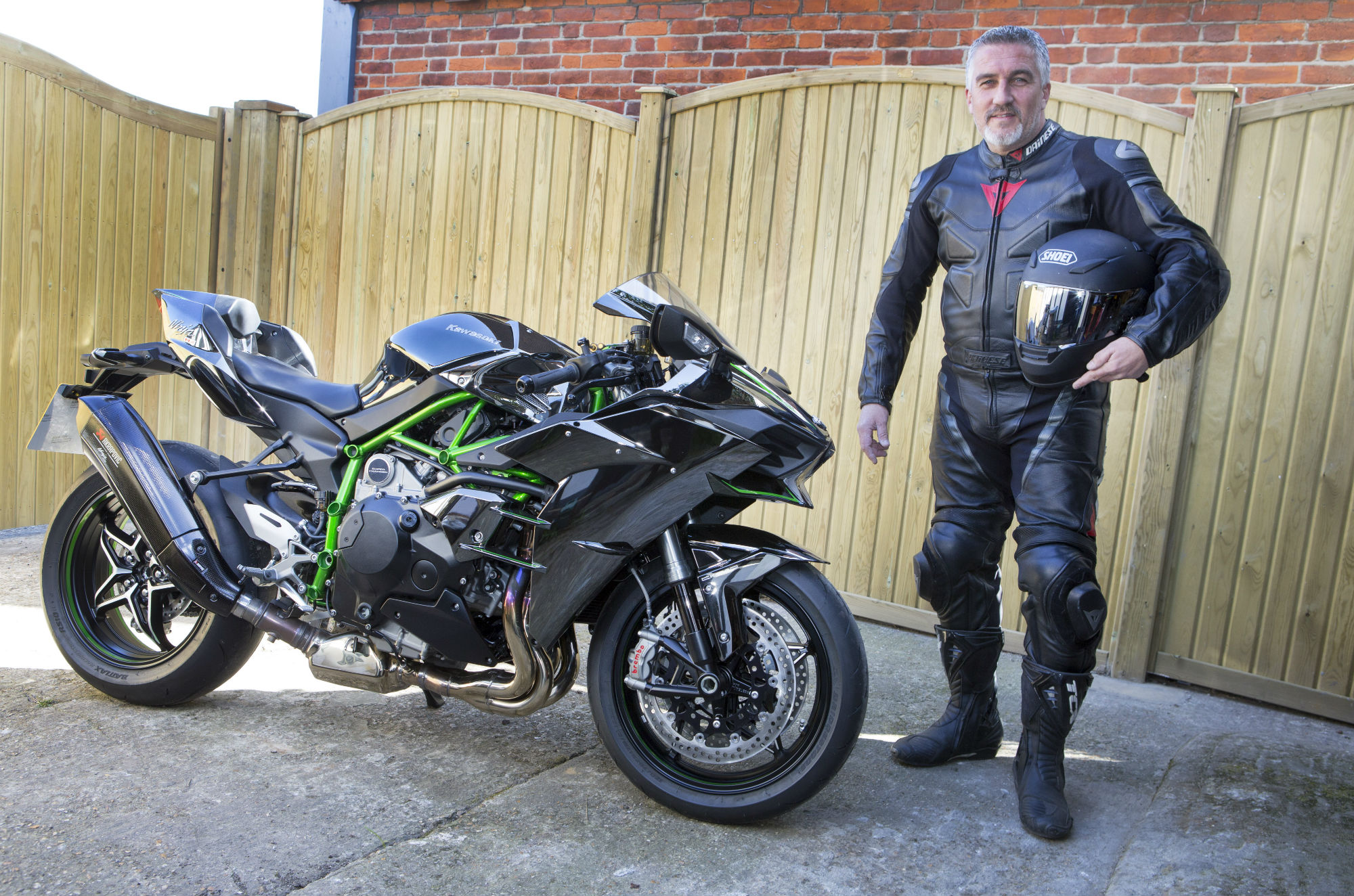 Caption that: A weird, sinister, shiny quality… Paul also had a new Ninja H2