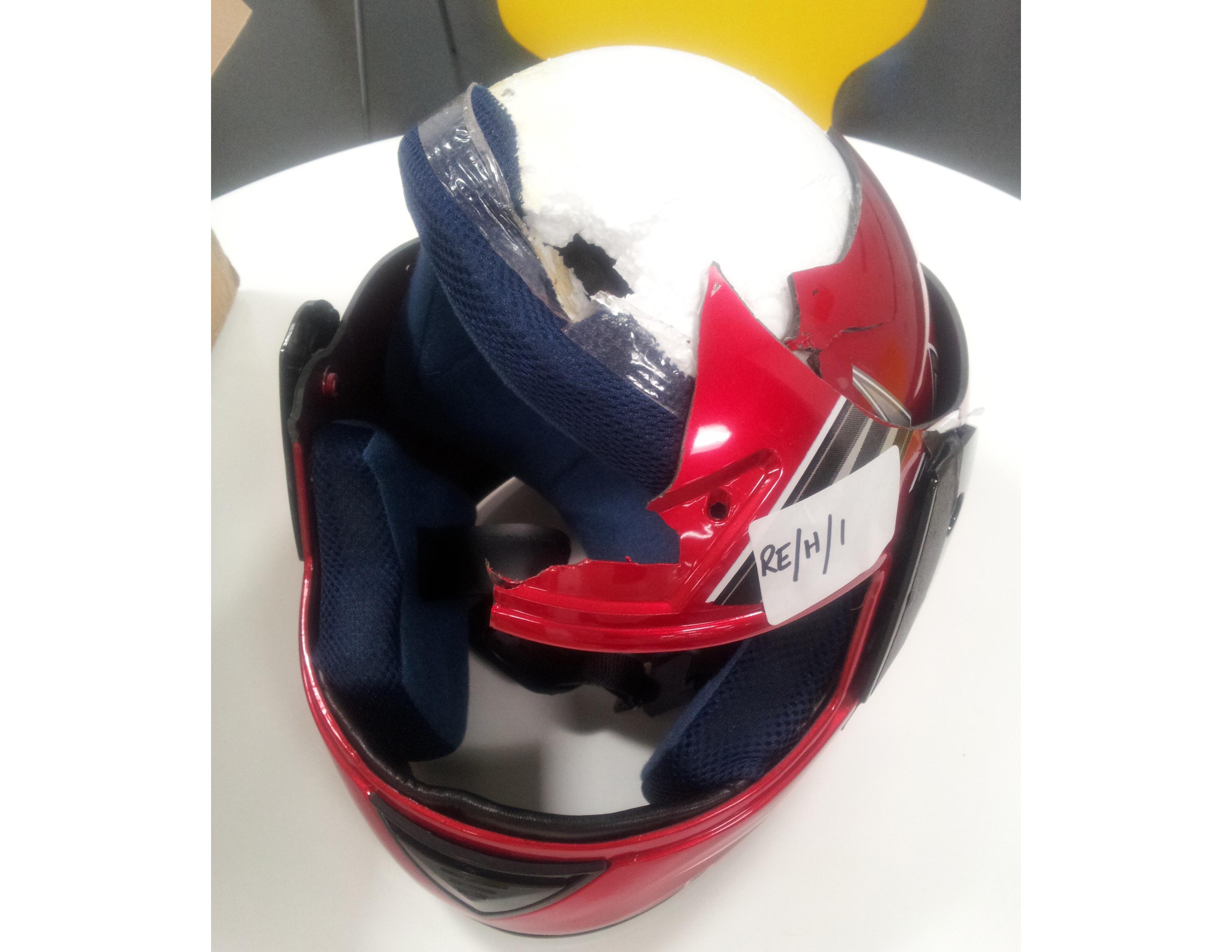 Dangerous helmet warning