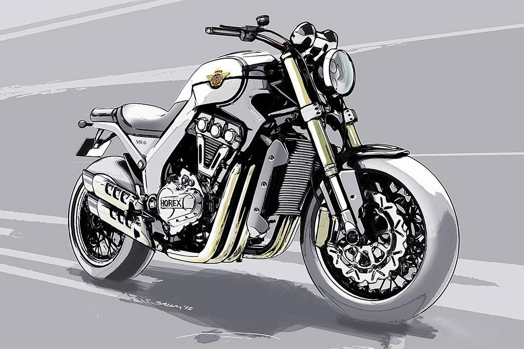 New Horex VR6 sketched