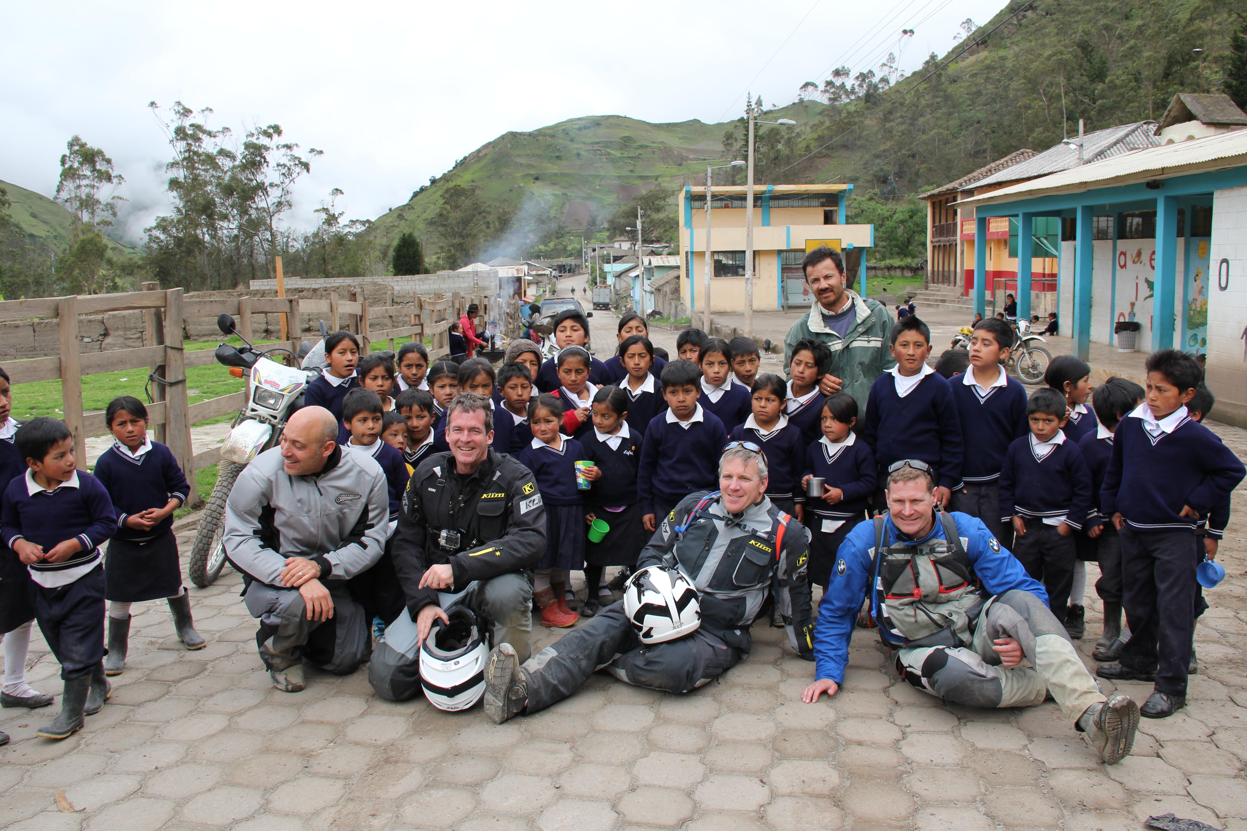 Bikers helping poor rural schools in South America