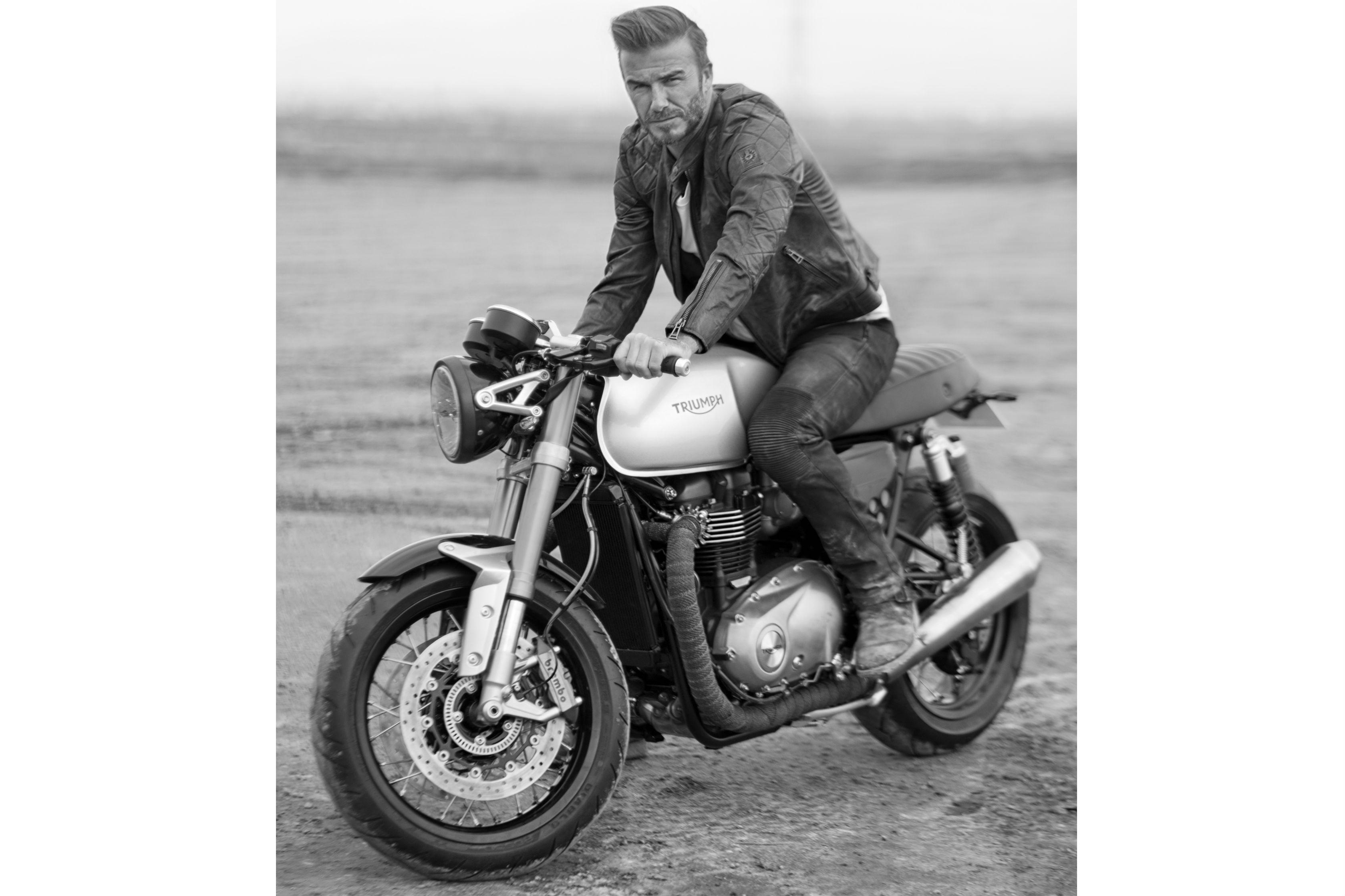 Beckham, Belstaff and the 2016 Triumph Bonneville