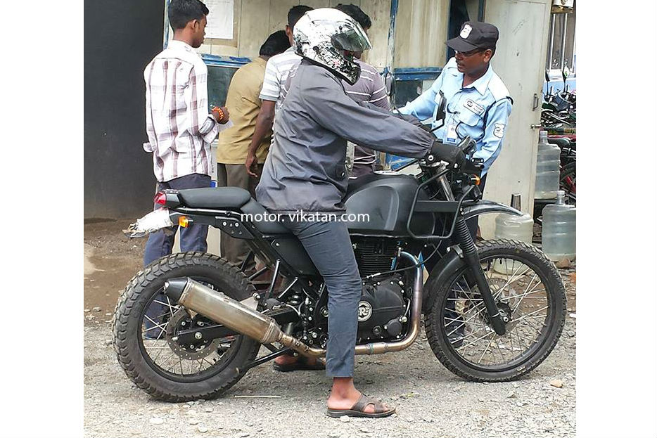 Royal Enfield Himalayan spied again
