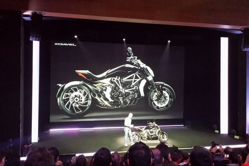 Ducati introduces the XDiavel in Milan