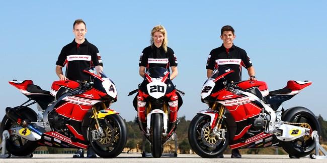 Honda Racing re-sign Tinmouth, Linfoot & O'Halloran for BSB 2016