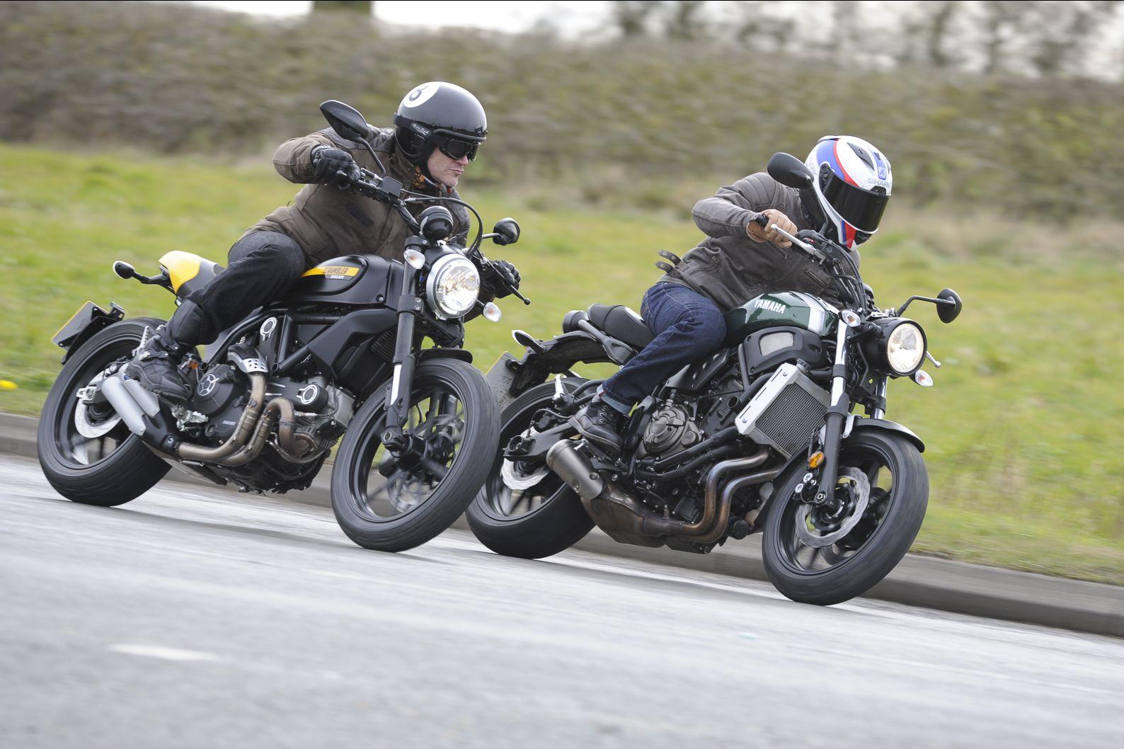 Retro Bike Group Test Yamaha Xsr700 Vs Visordown