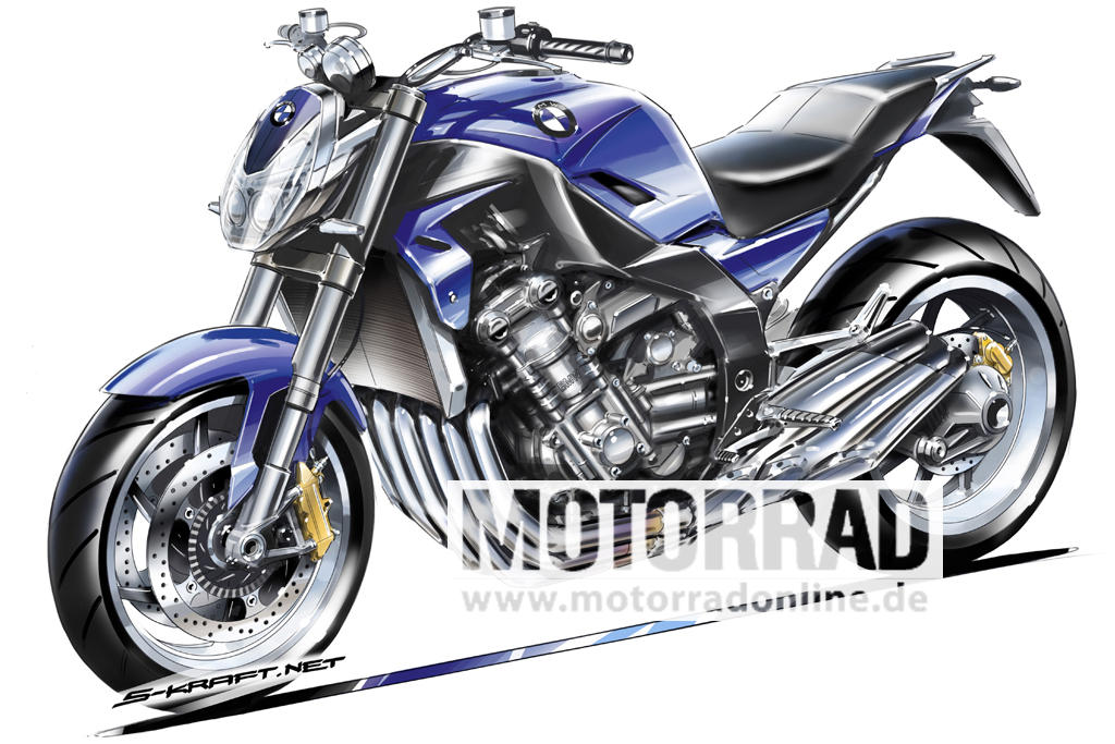 What if BMW used the engine from the K1600GT in a naked bike?