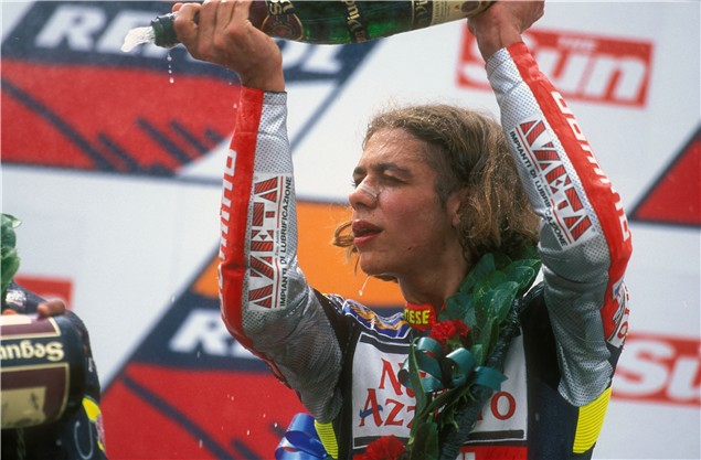 Valentino Rossi, his first World Championship in 1997
