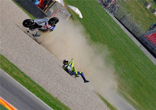 Valentino Rossi crash update