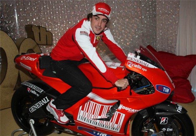 Alonso gifted Ducati Desmosedici