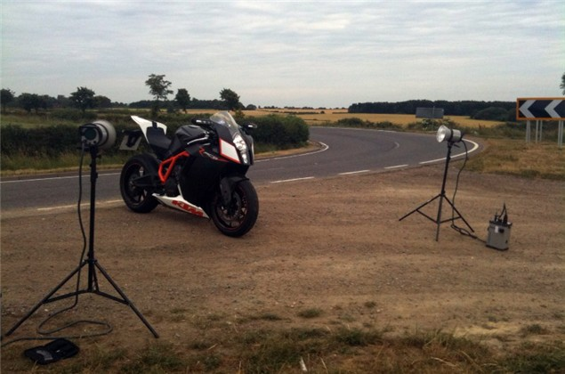 Behind the scenes on a photoshoot