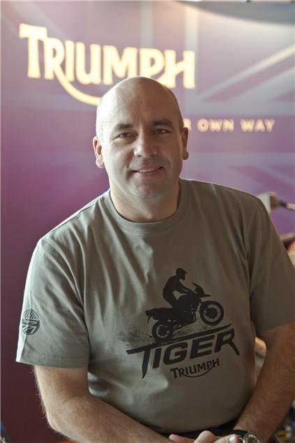 Triumph Tiger 800 launch: Simon Warburton