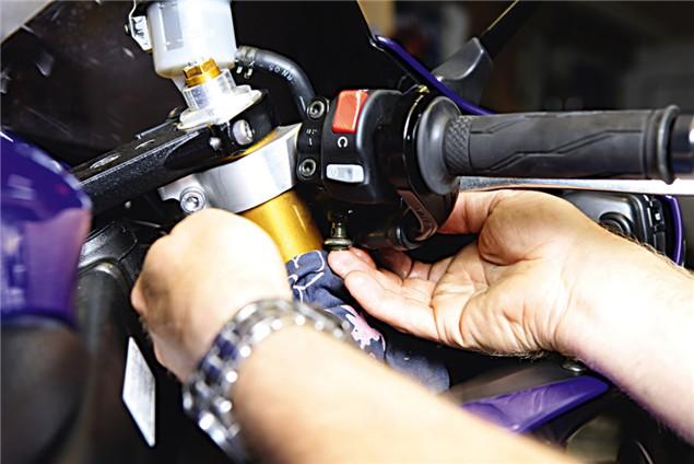 Fitting braided brake lines