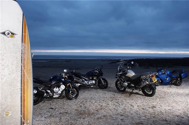 Road Test: Suzuki Bandit 1200, BMW R1200GS Adventure, Triumph Sprint ST, Yamaha FZ1 Fazer