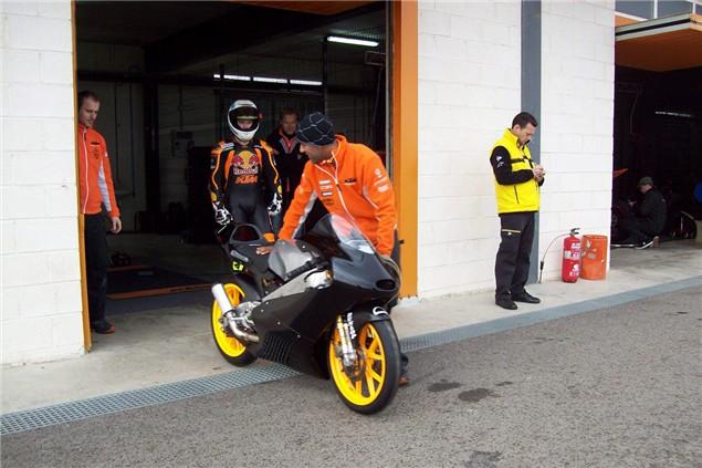 KTM testing Moto3 entry